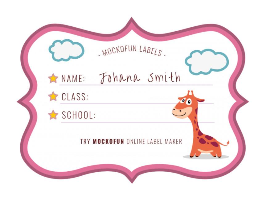 School Name Label
