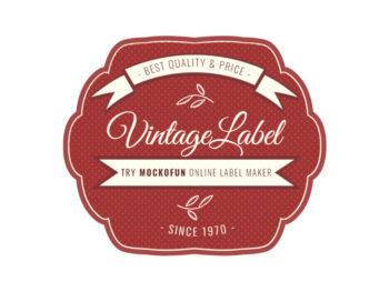 Vintage Label Template