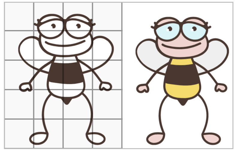 Grid Drawings for Kids