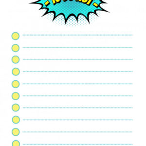 Fun To Do List Template