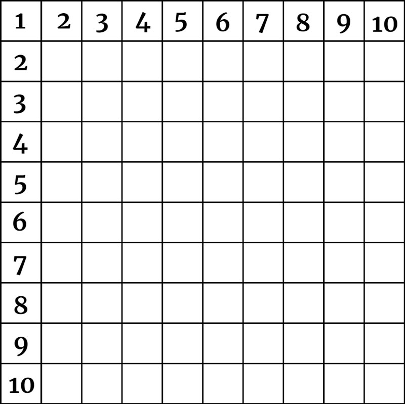 Grid With Numbers