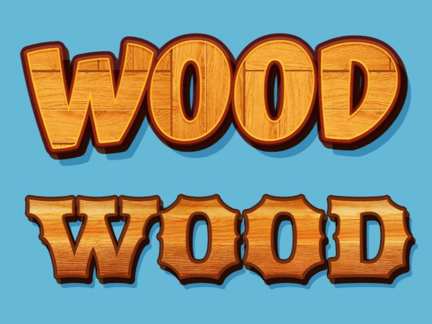 Wood Font Style