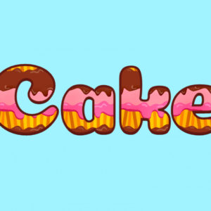 Cake Text Effect