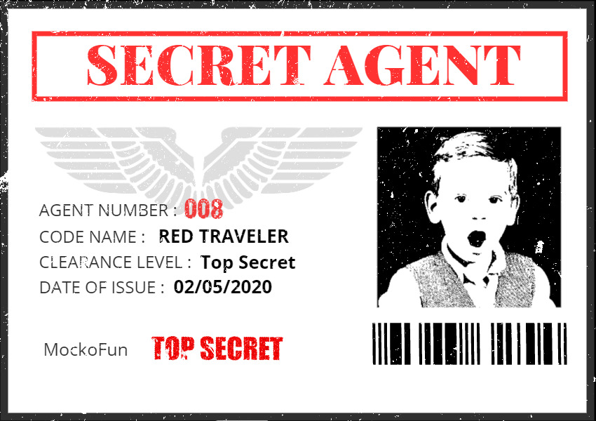 Secret Agent ID Card