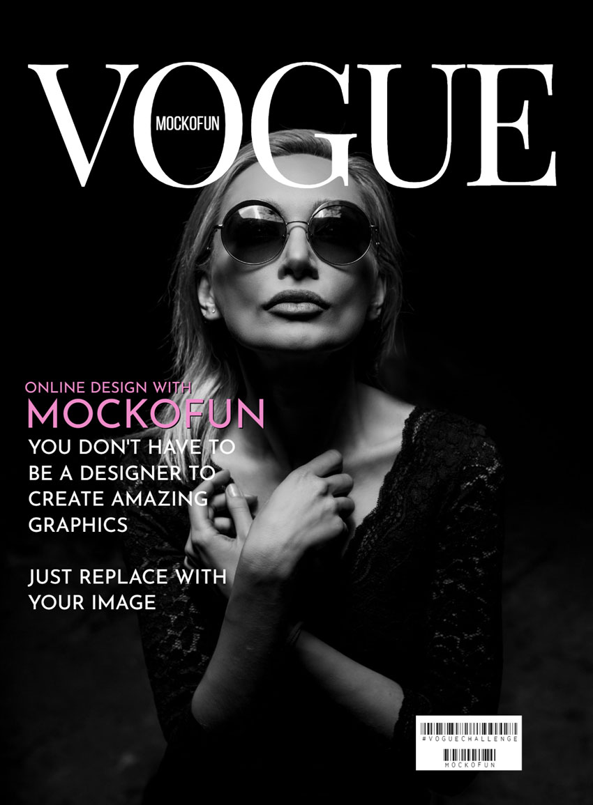 free  vogue cover template
