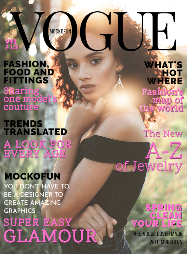 Vogue Magazine Cover Template