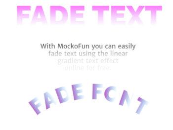 Fade Font