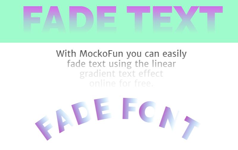 Fade Text