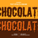 Chocolate Dripping Font
