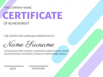Modern Certificate Design