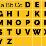 Printable Alphabet Grid
