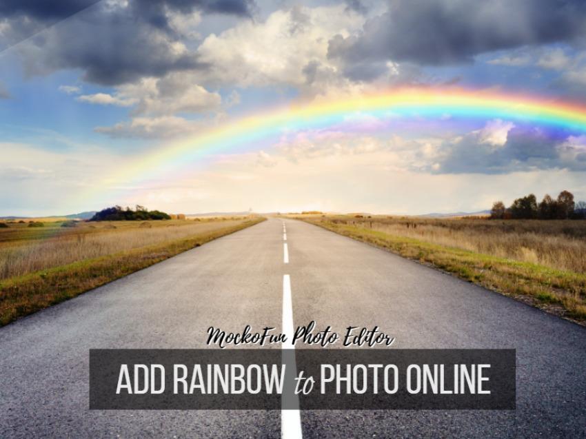 Add Rainbow To Photo