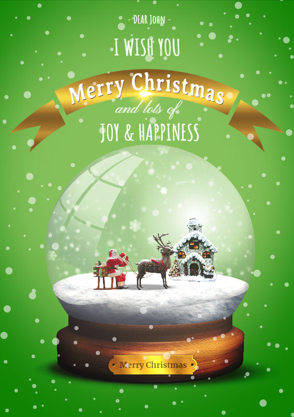 Editable Christmas Card