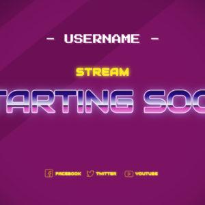 Retro Stream Starting Ending Soon Overlay