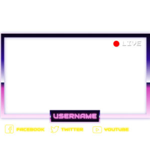 Retro Streaming Webcam Overlay
