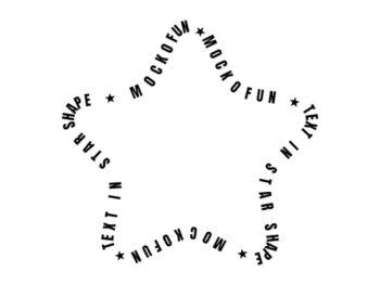 Star Shape Text