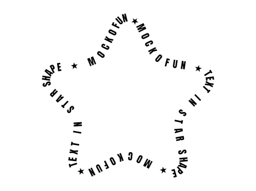 Star Shape Text
