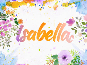Watercolor Name Art
