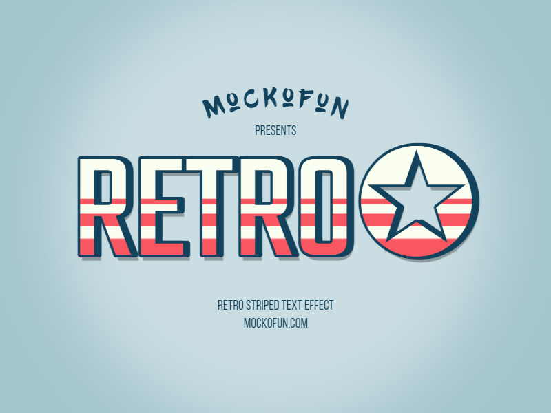 Retro Striped Text