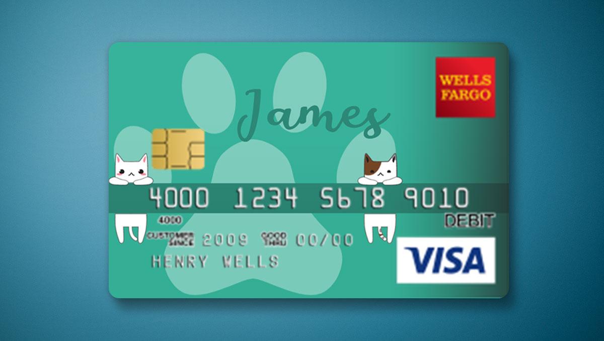 Wells Fargo Card Design 💳 [EDITABLE ONLINE] - MockoFUN