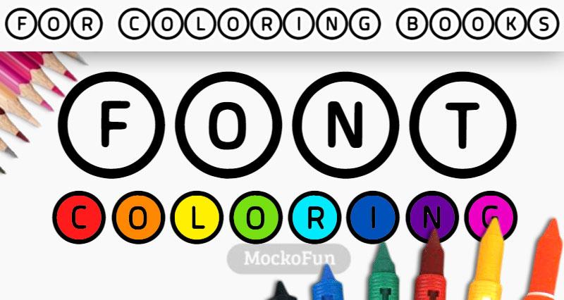 Coloring Book Font