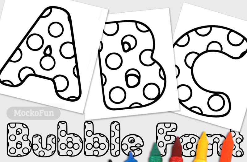 Coloring Bubble Letters