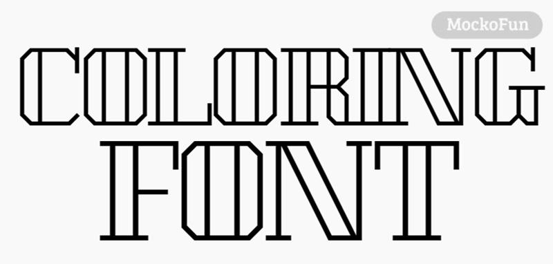 Coloring Font