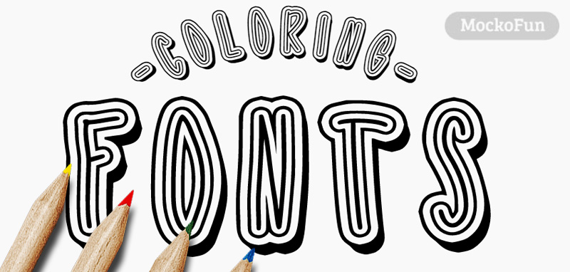 Font for Coloring