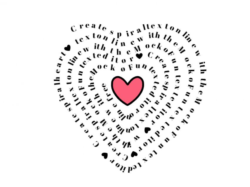 Text in Heart Shape
