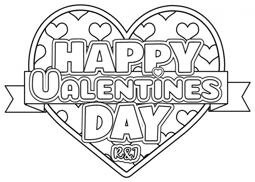 Valentine Coloring Page