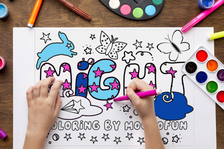 Word Coloring Pages Free