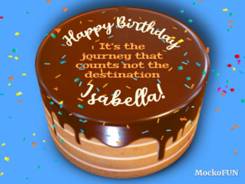 Birthday Cake with Name and Quotes