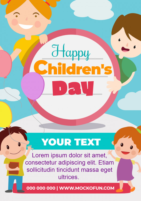 Childrens Day Poster