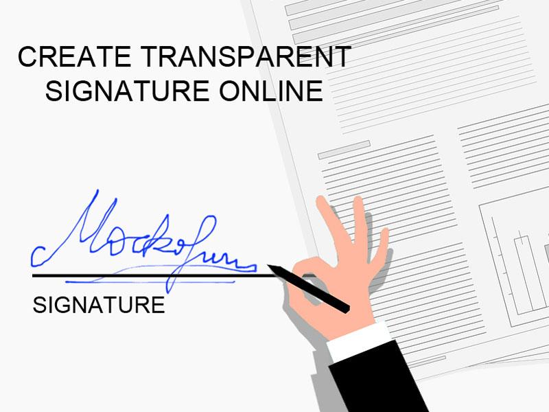 Transparent Background Signature