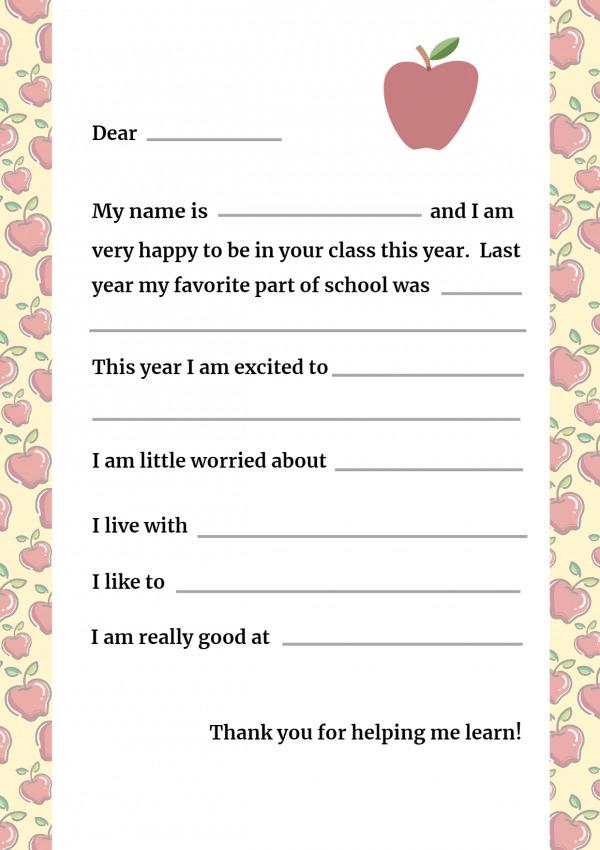 Letter to a Teacher