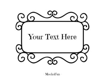 Text Frame PNG