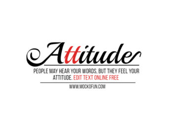 Attitude Text PNG